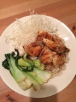 Sesame Chicken and Bok choy